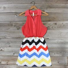 Broken Arrow Chevron Dress- this would be perfect for rush week! Cool Outfits, Summer Outfits, Fashion Outfits, Summer Clothes, Casual Outfits, Chevron Dress, Country Outfits, Country Dresses, Sweet Dress