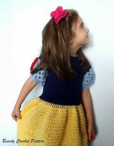 Princess Snow White Crochet Dress Pattern