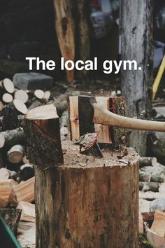 "(The local gym.) - Someones dad always said: ""Why would I go to the gym to lift heavy things when I can do that here and get work done."