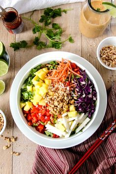 Asian Pineapple Salad with Coconut Peanut Dressing