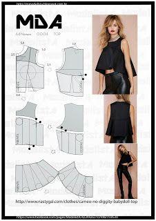 yo elijo coser: Patrón gratis: crop top con vuelo