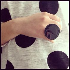 Big, black, ring and polka dot..!!