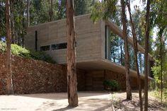 Omnibus House, located in Zapallar, Valparaíso region, Chile, this concrete home is the rural retreat of Chilean architect Pedro Gubbins.