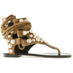 d3bcdeb98132 Giuseppe Zanotti Design Studded Sandals ( 630) ❤ liked on Polyvore  featuring shoes