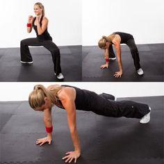 Horse Stance to Pushup, Pop Up - Kickboxing Cardio Workout Routine - Shape Magazine