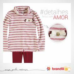 Delicadeza e estiloso acompanham os looks da Brandili para o inverno das crianças #lookbrandili