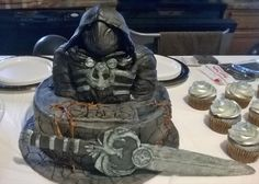Here is the skyrim cake my son requested for his birthday. I apologize for the pic lol I was so busy setting up for the party I did not have the time. 12th Birthday, Skyrim, Cake Designs, Amazing Cakes, Lincoln, Party, Desserts, Pink, Inspiration