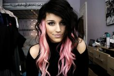 (18) pink streaks | Tumblr