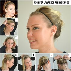Our fun Jennifer Lawrence Pin Back Undo How To! So easy only took minutes. #jenniferlawrence @updo #hair #hairstyle