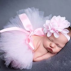 Newborn Photography Props Infant Petti Skirt Costume Outfit Princess Baby Tutu Skirt Headband