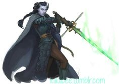Tiefling with an effing phenomenal sword