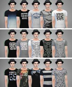 Rolled tees at Lightsxxx via Sims 4 Updates