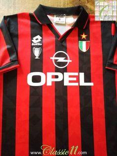 1994 95 AC Milan Home Football Shirt (M) b19ed6d1f