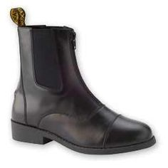 Saxon Equileather Zip Paddock Boots   Adult   Black on Sale
