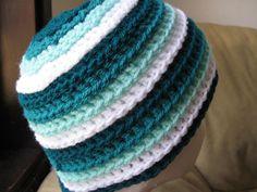 Ripple Wave Beanie - Meladora's Free Crochet Patterns & Tutorials