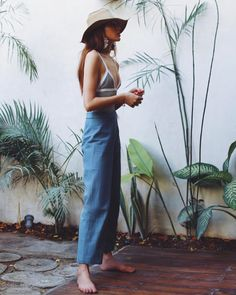 We turned to good ole Instagram for a little inspiration. Check out these five accounts and we bet you won't miss a beat this weekend.----Natalie Lim Suarez in a blue cullotte pants and straw hat. | Coveteur.com