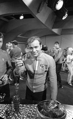 """Kirk (William Shatner) and Mr. Spock (Leonard Nimoy) - Star Trek: The Original Series """"Journey to Babel"""" (First Broadcast: November Star Trek Crew, Star Trek Tv, Star Wars, Nave Enterprise, Star Trek Enterprise, Star Trek Original Series, Star Trek Series, James T Kirk, Star Trek 1966"""