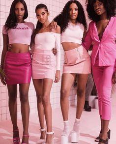 on wednesdays, we wear pink.💕 on wednesdays, we wear pink.💕 on wednesdays, we wear pink.💕 by the way, my purpose Black 90s Fashion, 2000s Fashion, Pink Fashion, Vintage Fashion, Fashion Outfits, Fashion Fashion, Retro Fashion, Fashion Beauty, Black Girl Aesthetic