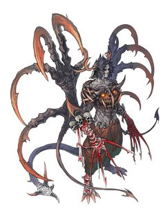 Roth- Powerful warrior possessed by a demon paracite. The result is a seemingly unkillable monstrosity. Monster Concept Art, Fantasy Monster, Monster Art, Dark Creatures, Fantasy Creatures, Creature Concept Art, Creature Design, Fantasy Character Design, Character Art
