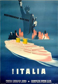 Company Banner, Secret Garden Parties, Swimming Pool Decks, Original Vintage, Advertising Poster, Vintage Travel Posters, Yorkie, New York City, North America