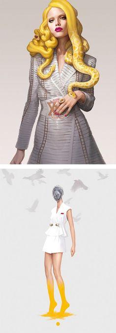 #fashiondesign #fashionillustration #illustrating #artwork #design #illustration #snakelady