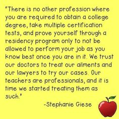 So true for most teachers! Of course as in every profession there are a few dead beats!