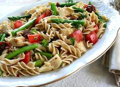 Pasta with asparagus and artichoke hearts  Veg Kitchen