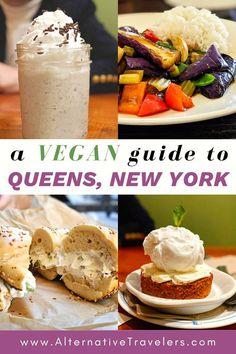 New York City Guide, New York Travel Guide, Travel Tips, Best Vegan Restaurants, Nyc Restaurants, Rego Park, Vegan Fast Food, Jackson Heights, Vegan Cafe