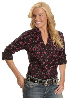 Wrangler Rock 47 Pink Stars Western Shirt available at #Sheplers