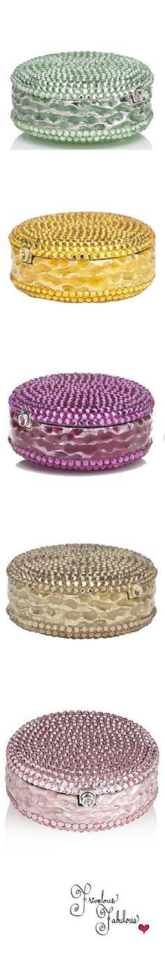 Frivolous Fabulous - Judith Leiber Crystal Embellished Macaron