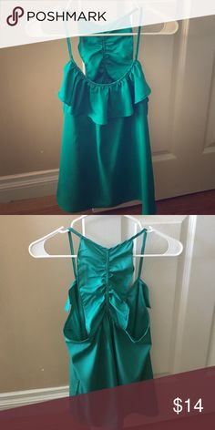🔥💄 NWOT: Darling green silk top. Bought for St Patrick's day and never wore. Missing tags. Charlotte Russe Tops