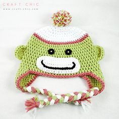 I've made my fair share of these adorable monkey hats for friends and family over the years and I still love that cute, smiling face. I hope you enjoy making these hats as much as I do!