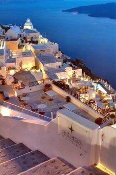 Dusky scene, Santorini ... Secrets of Greece via pinterest.com Greece Travel Acesse Nosso Blog encontre muito mais Informações http://storelatina.com/greece/travelling #traveling #Греція #grækenland #Griekenland