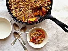 Dessert of the Month: Nectarine-Raspberry Crisp with Quinoa Topping | Healthy Eats – Food Network Healthy Living Blog
