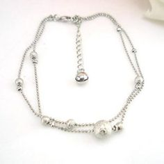 SusenstoneFrosted Double Chain Large Ball Anklet Bracelets Sandal Beach Foot Jewelry >>> Very nice of you to have dropped by to view the picture. (This is our affiliate link) Anklet Bracelet, Anklets, Bracelets, Beach Foot Jewelry, Double Chain, Jewellery Uk, Sandal, Pearl Necklace, Bling