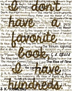 I don't have a favorite book...