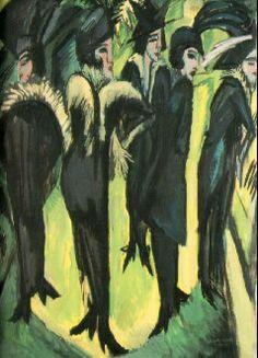 Cinco mulheres na rua - Ernst Kirchner