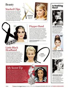 Instyle December 2012  the CLARICE headband in black