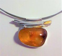 Halskette Bernstein Collier NEU Necklace genuine Amber SIlver claps UNIKAT