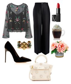 """❤️🖤"" by ladyanyainny on Polyvore featuring мода, MANGO, Joseph, ZAC Zac Posen, Nicole Romano и NARS Cosmetics"