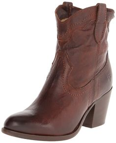 FRYE Women's Tabitha Pull-On Short Western Boot -- Don't get left behind, see this great boots : Ankle Boots