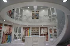 Walk In Closet with Spiral Staircase, Contemporary, Closet circle moulding mirrored closet doors