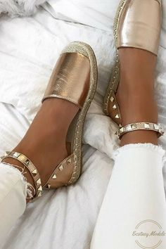Rose Gold GangShoes from lavishluxe.co.uk