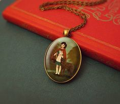 Fairytale Necklace Jewelry  Little Red Riding Hood by thelittlefox, $20.00