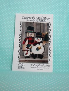 Snowman Wooden Pattern. SOLD  Cute Snowman Family.  Happy Snow Family Pattern. Pattern for Winter Decor .Free Shipping! by FashionSew on Etsy
