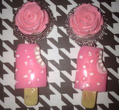 Pink Strawberry Ice Cream Popsicle Plugs on Etsy, $25.00