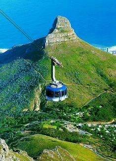 Lion's Head and cable car to Table Mountain, Cape Town, South Africa. You absolutely need to do this when in Cape Town. You can walk on top of Table Mountain for hours. Places Around The World, Oh The Places You'll Go, Places To Travel, Places To Visit, Paises Da Africa, Le Cap, Cape Town South Africa, Africa Travel, Travel Around