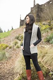 Ravelry: Textured Tunic Vest pattern by Anna Cohen