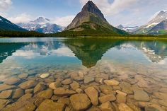 Swiftcurrent Lake at Many Glaciers, Glacier National Park, Montana