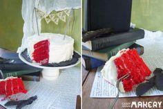 Edgar Allan Poe Red Velvet Cake | Camp Makery